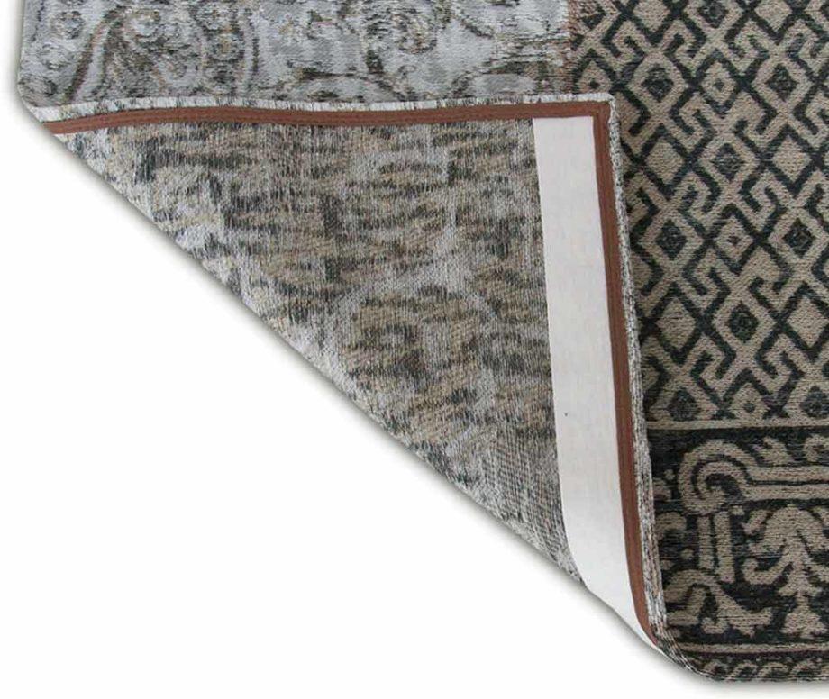 Louis De Poortere rug LX 8101 Vintage Black White corner