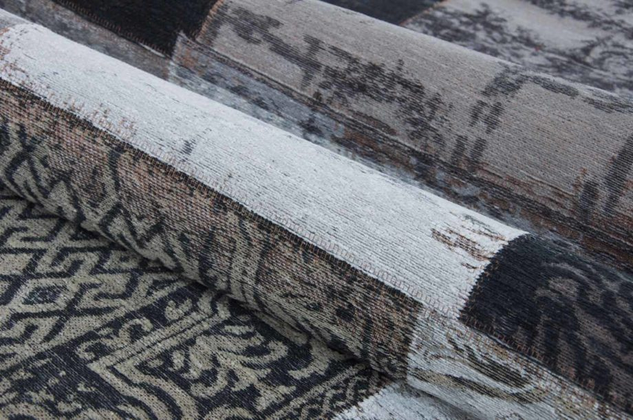 Louis De Poortere rug LX 8101 Vintage Black White zoom