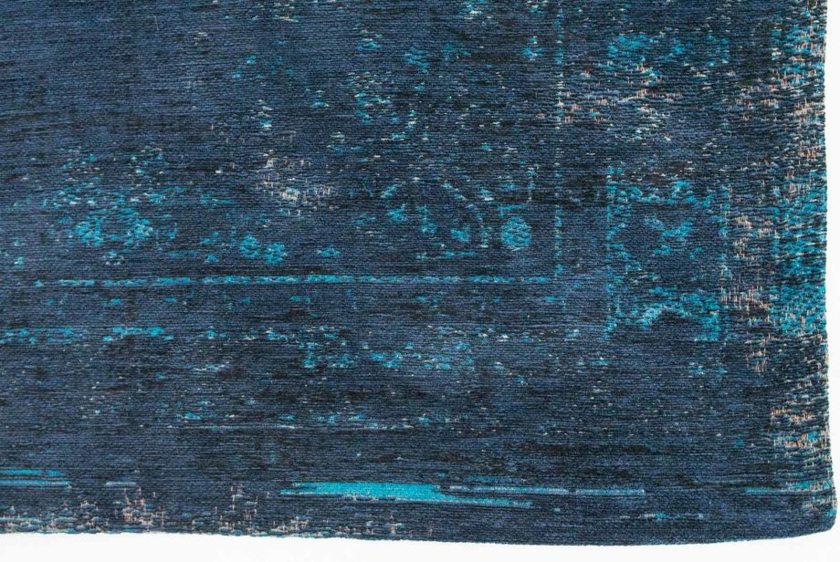 Louis De Poortere rug LX 8254 Fading World Medaillon Blue Night corner