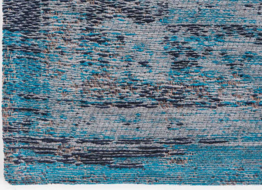 Louis De Poortere rug LX 8255 Fading World Medaillon Grey Turquoise corner