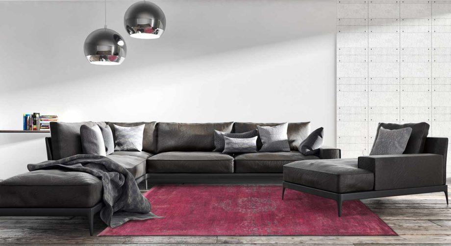 Louis De Poortere rug LX 8260 Fading World Medaillon Scarlet interior