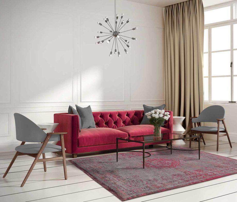 Louis De Poortere rug LX 8261 Fading World Medaillon Pink Flash interior 2