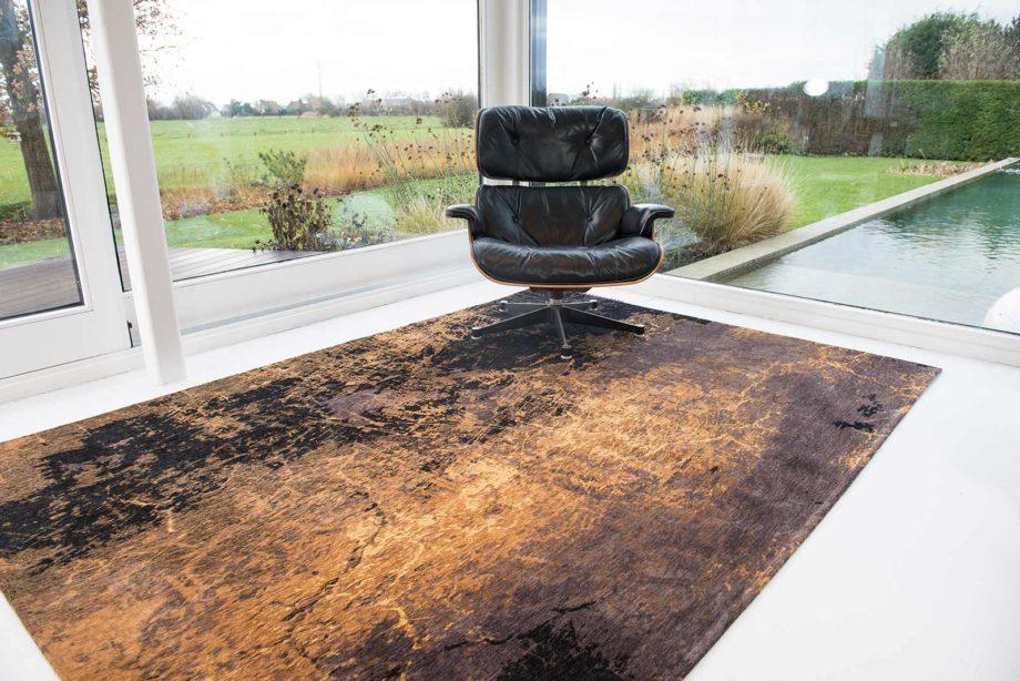 Louis De Poortere rug LX 8618 Mad Men Cracks Deep Mine interior