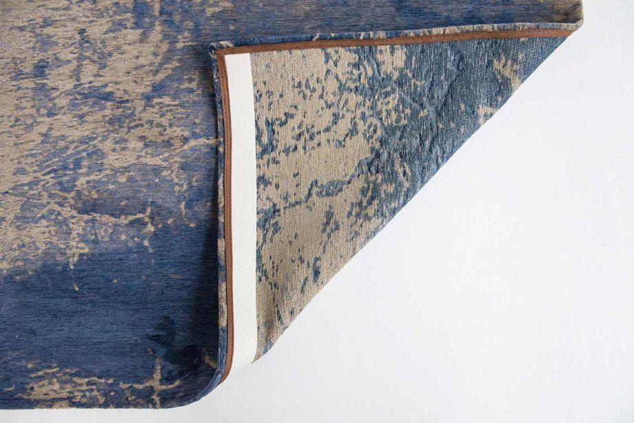 Louis De Poortere rug LX 8629 Mad Men Cracks Abyss Blue back