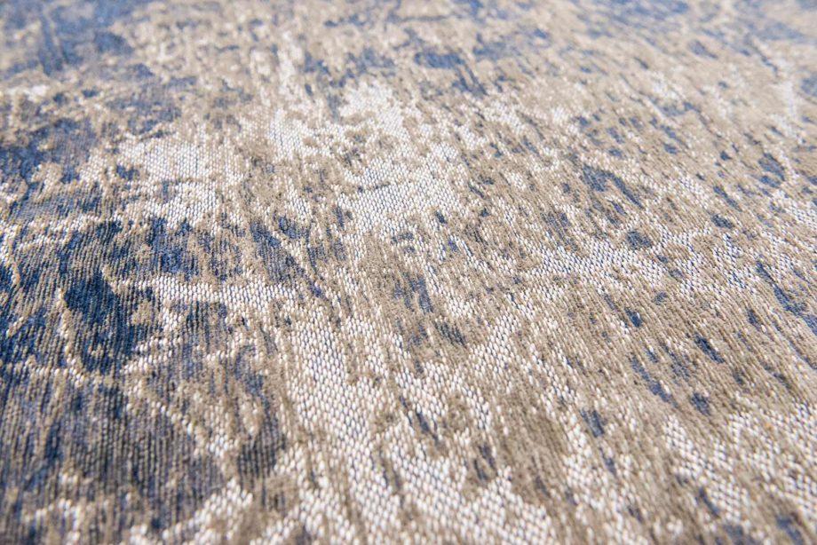 Louis De Poortere rug LX 8629 Mad Men Cracks Abyss Blue zoom 2