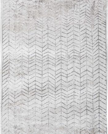Louis De Poortere rug LX 8652 Mad Men Jacobs Ladder Black on White