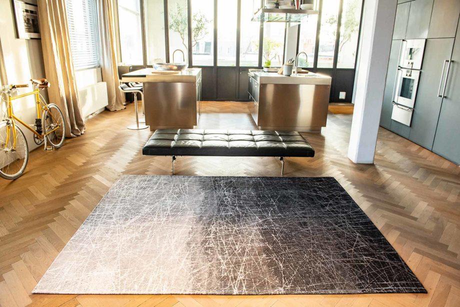 Louis De Poortere rug LX 8881 Mad Men Fahrenheit Wind Chill Grey interior 3