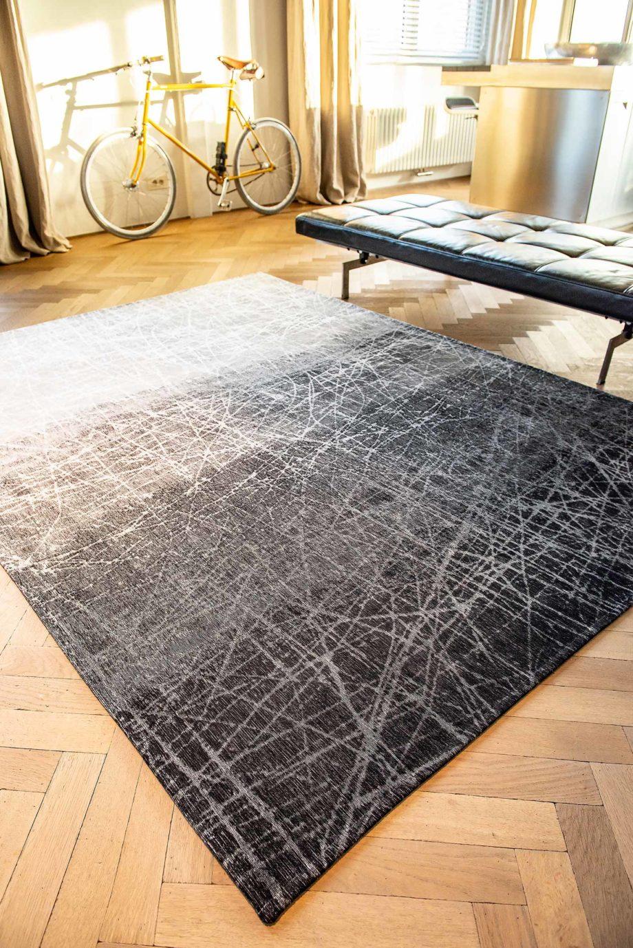 Louis De Poortere rug LX 8881 Mad Men Fahrenheit Wind Chill Grey interior 4