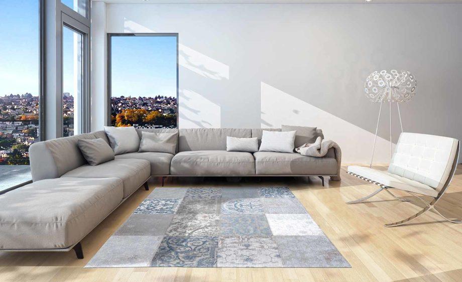 Louis De Poortere rug LX 8981 Vintage Bruges Blue interior