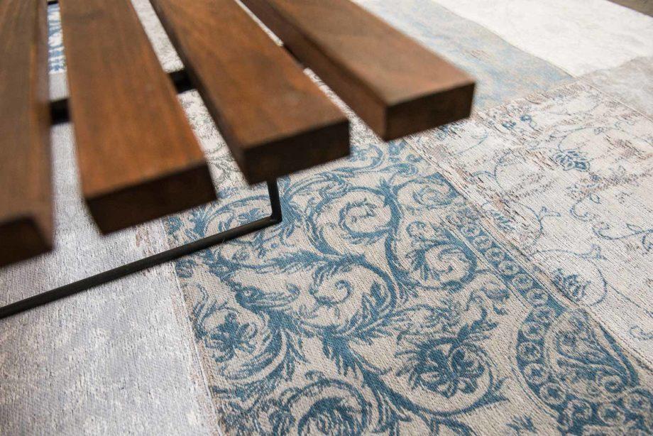 Louis De Poortere rug LX 8981 Vintage Bruges Blue zoom 3