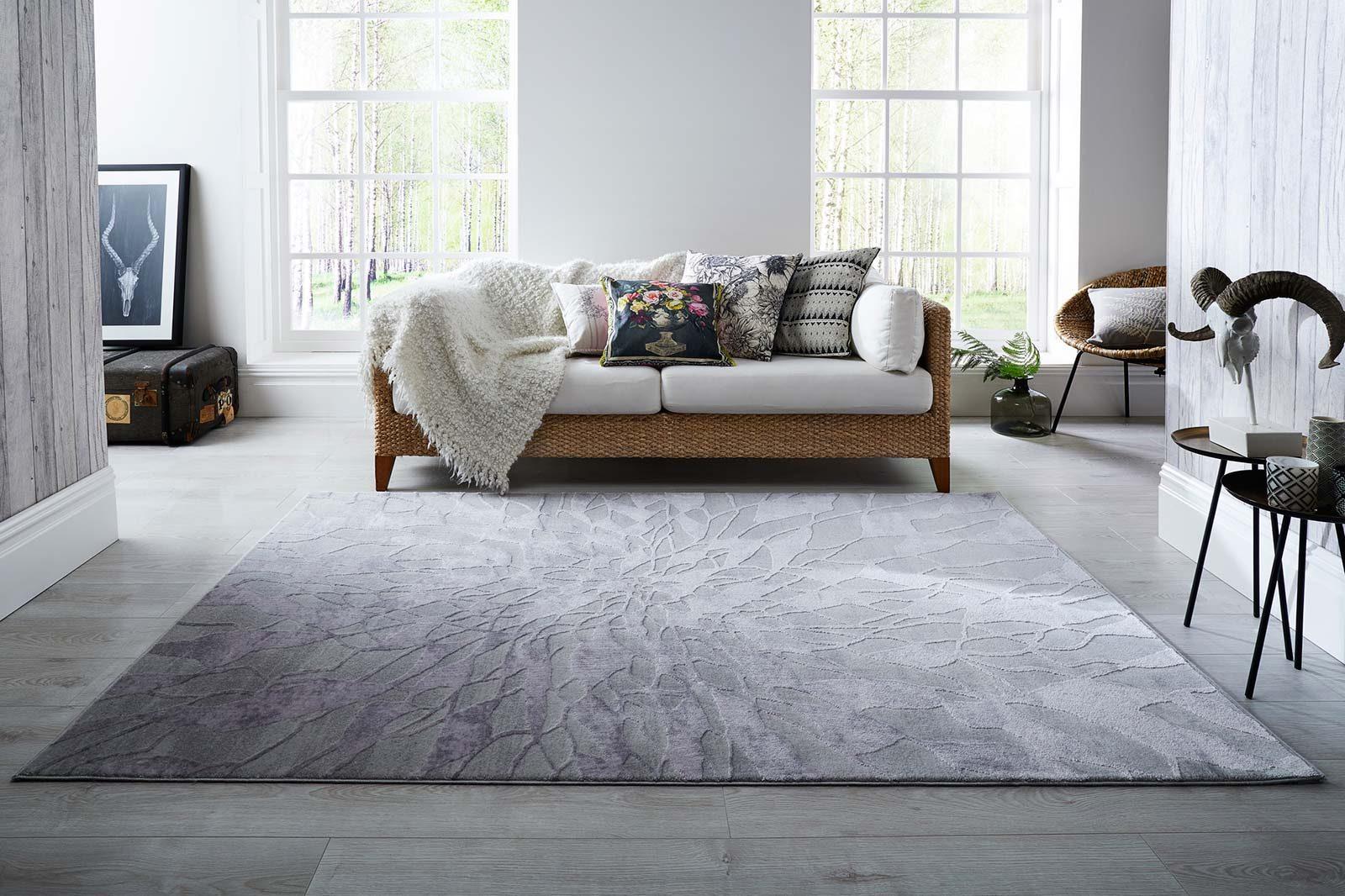 Luxmi Rugs Alpaca Suri Grey interior
